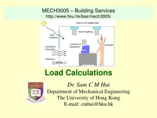 Dr. Sam C M Hui Department of Mechanical Engineering The University of Hong Kong E-mail: cmhui@hku.hk
