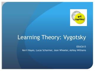 Learning Theory:  Vygotsky