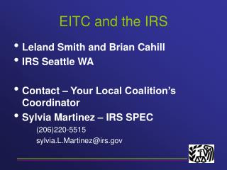 EITC and the IRS