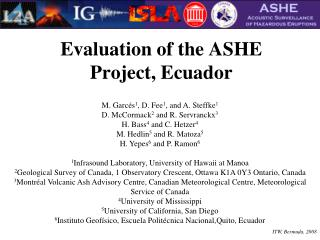 Evaluation of the ASHE Project, Ecuador