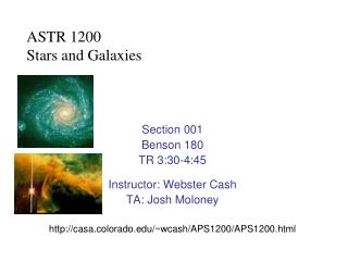 ASTR 1200 Stars and Galaxies
