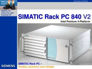 SIMATIC Rack PC 840  V2