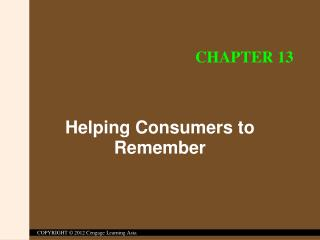 Helping Consumers to Remember