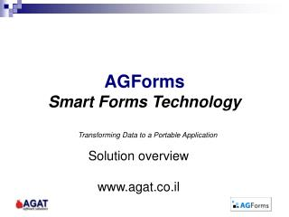 AGForms Smart Forms Technology