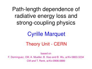 Path-length dependence of radiative energy loss and strong-coupling physics
