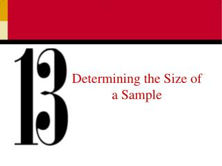 Determining the Size of a Sample
