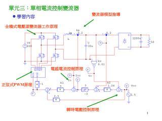 單元三:單相電流控制變流器