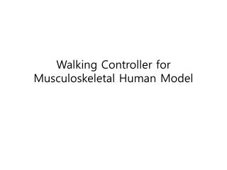 Walking Controller for Musculoskeletal Human Model