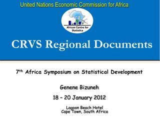 CRVS Regional Documents