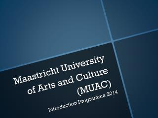 Maastricht University of Arts and Culture (MUAC)