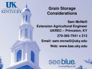 Grain Storage Considerations