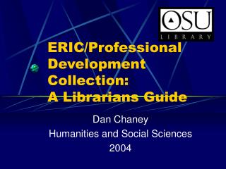 ERIC/Professional Development Collection: A Librarians Guide