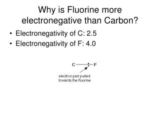 Why is Fluorine more electronegative than Carbon?