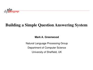 Building a Simple Question Answering System