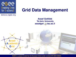 Grid Data Management  Assaf Gottlieb Tel-Aviv University assafgot      tau.ac.il