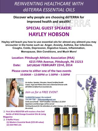 REINVENTING HEALTHCARE WITH d?TERRA ESSENTIAL OILS