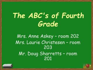 The ABC's of Fourth Grade