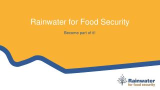 Rainwater for Food Security