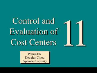Control and Evaluation of Cost Centers