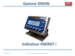 Indicateur ENERGY !