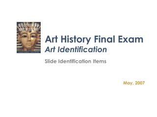 Art History Final Exam Art Identification