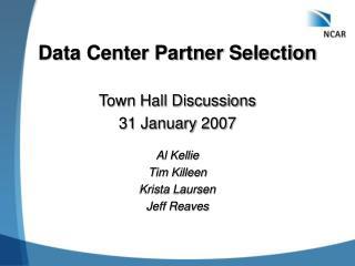 Data Center Partner Selection