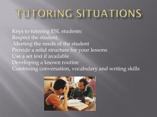 TUTORING SITUATIONS
