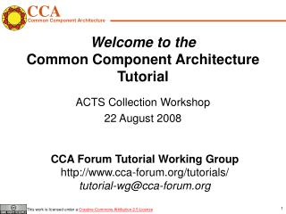 Welcome to the Common Component Architecture Tutorial
