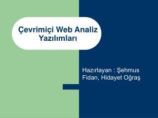 Çevrimiçi Web Analiz Yazılımları