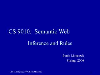 CS 9010:  Semantic Web