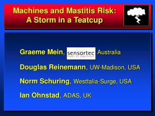 Machines and Mastitis Risk: A Storm in a Teatcup