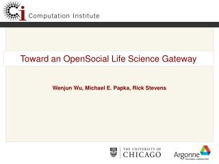 Toward an OpenSocial Life Science Gateway
