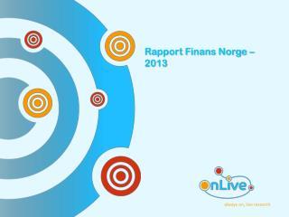 Rapport Finans Norge – 2013