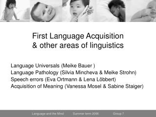 First Language Acquisition & other areas of linguistics