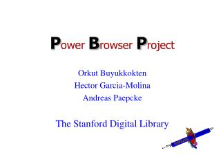 Power Browser Project