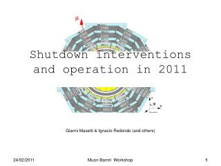 Shutdown interventions and operation in 2011