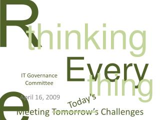 IT Governance Committee