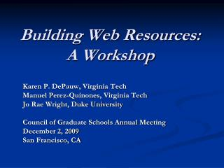 Building Web Resources:
