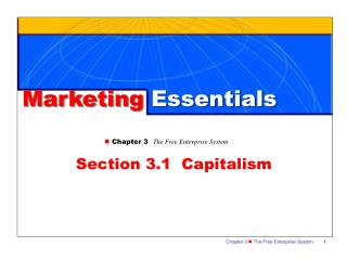 n Chapter 3 The Free Enterprise System