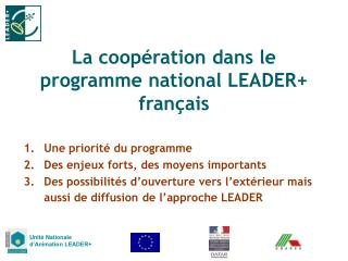 La coop�ration dans le programme national LEADER+ fran�ais