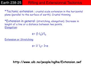 Rifting and Extensionnal Tectonics
