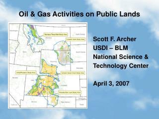 Oil & Gas Activities on Public Lands