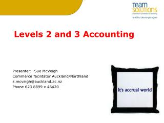 Levels 2 and 3 Accounting