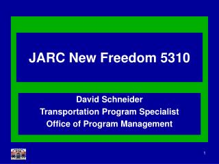 JARC New Freedom 5310