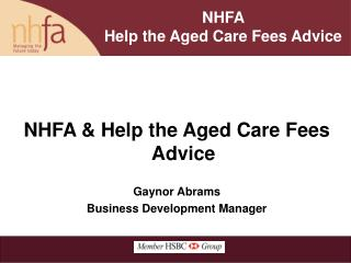 NHFA   Help the Aged Care Fees Advice