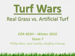 Turf Wars Real Grass vs. Artificial Turf