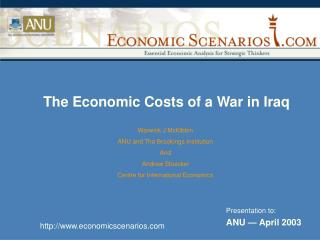 The Economic Costs of a War in Iraq