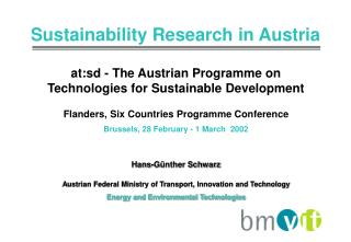 at:sd - The Austrian Programme on Technologies for Sustainable Development