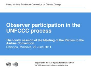 Observer participation in the UNFCCC process