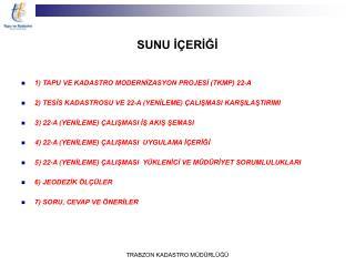 SUNU İÇERİĞİ